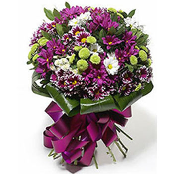 Purples & Whites Daisies Bouquet