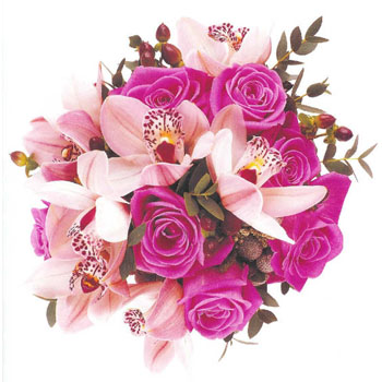 Pink Orchid & Roses