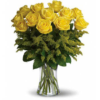 Dozen Yellow Roses Bouquet