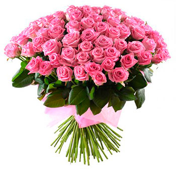 Pink Roses Flower Bunch