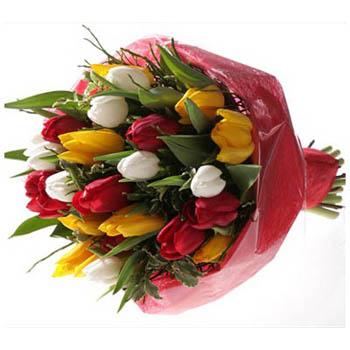 Seasonal Bouquet Of Tulips