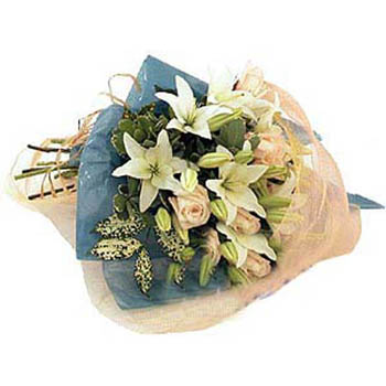 Roses & White Lilies Bouquet