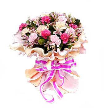 Bouquet Of Carnations & Peruvian Lilies