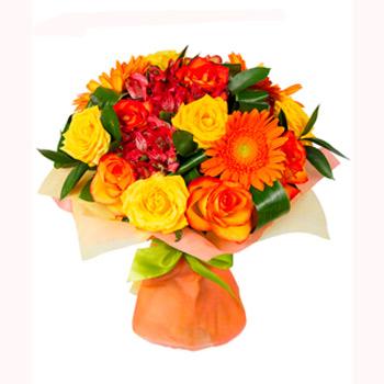 Bouquet Orange rondeau