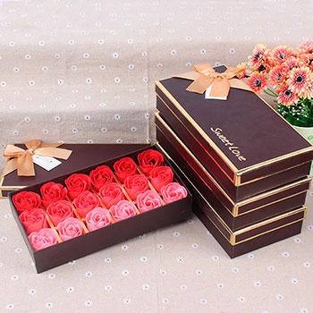 Set Romantic Rose Soap Flower