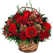 Holiday Flower Basket