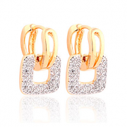 MOLIAM Fashion Design Small Huggie Hoop Earrings for Womens Cluster Paved