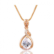 MOLIAM Fashion Women Necklace Gold Plated Slide Pendants Jewelry with Chain Gros Collier Femme