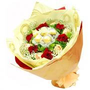 Flowers With Ferrero Rocher Hand Bouquet #1