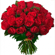 A bunch  of 51 short red roses