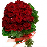 Red Roses Flower Bunch