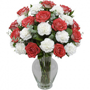 Carnation & Rose Bouquet