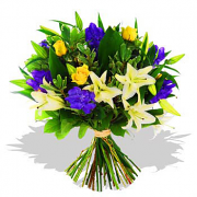 Blue & Yellow Bouquet