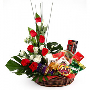 Flowers Cheer Gift Basket
