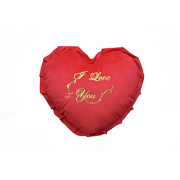 "Pillow ""I Love You"" with frill"