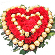 Red Roses and Ferrero Special Heart