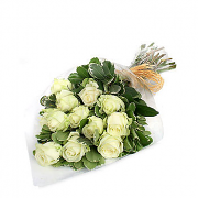Classic White Roses Bouquet