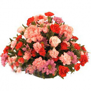 Carnations & Rose Basket